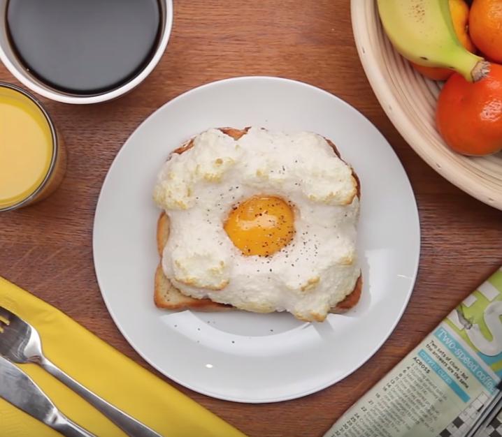 Receta de huevos nube